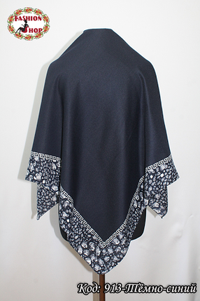 Женский тёмно-синий платок Эвридика, фото 2
