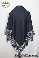 Женский тёмно-синий платок Эвридика
