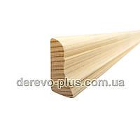 Плінтус кутовий  дерев'яний ялиновий, фото 1