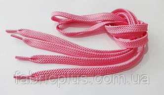 Шнурки в кроссовки плоские 100 см розовые (10 мм)