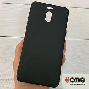 Чехол для Meizu M6 Note силиконовый плотный чехол на телефон мейзу м6 нот черный Plain