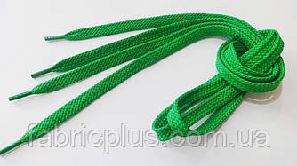 Шнурки в кроссовки плоские 100 см светло-зеленые (10 мм)