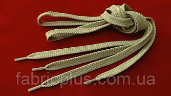 Шнурки в кроссовки плоские 100 см песочные (10 мм)