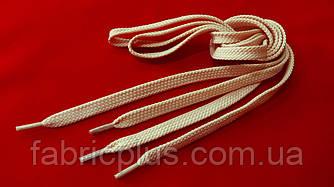 Шнурки в кроссовки плоские 100 см пудра (10 мм)