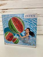 Надувний м'яч Кавун, 107см Intex, м'яч пляжний Кавун 58075