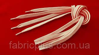 Шнурки в кроссовки плоские 100 см светло-розовые (10 мм)
