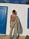 Модний Жіночий Брючний Костюм Трійка, фото 5