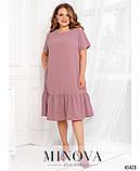 Жіноче літнє плаття міді Креп Розмір 50 52 54 56 58 60 62 64 66 68 В наявності 6 кольорів, фото 2