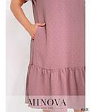 Жіноче літнє плаття міді Креп Розмір 50 52 54 56 58 60 62 64 66 68 В наявності 6 кольорів, фото 3