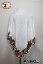 Женский белый модный платок с напылением Эрика, фото 2