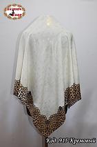 Женский кремовый модный платок с напылением Эрика, фото 2