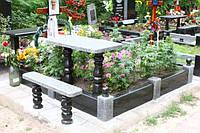 Лавочка с балясинами и стол на кладбище № 478