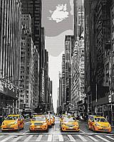 Картина по номерам рисование Brushme BS9386 Такси Нью-Йорка