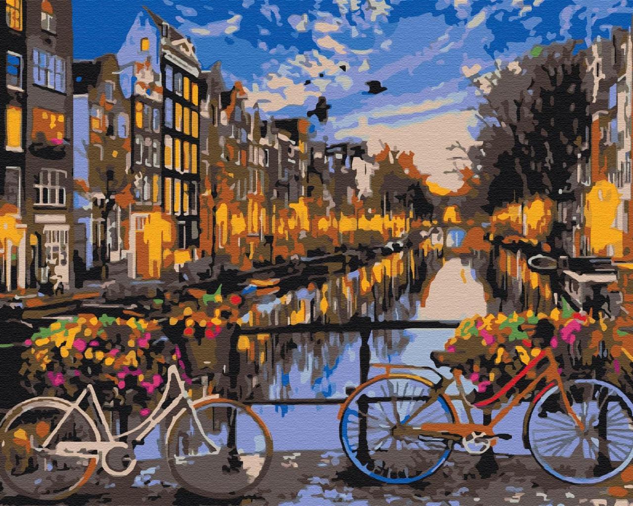 Картина по номерам рисование Brushme BS21031 Закат на улочке Амстердама