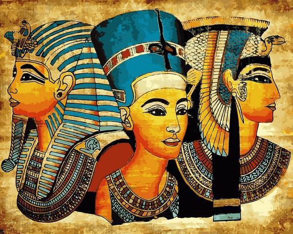 Картина за номерами малювання Babylon VP1401 Символи Єгипту 40х50см набір для розпису по цифрам у коробці