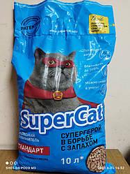 Наповнювач для котів SUPER CAT Супер кет стандарт, 3 кг (синій)