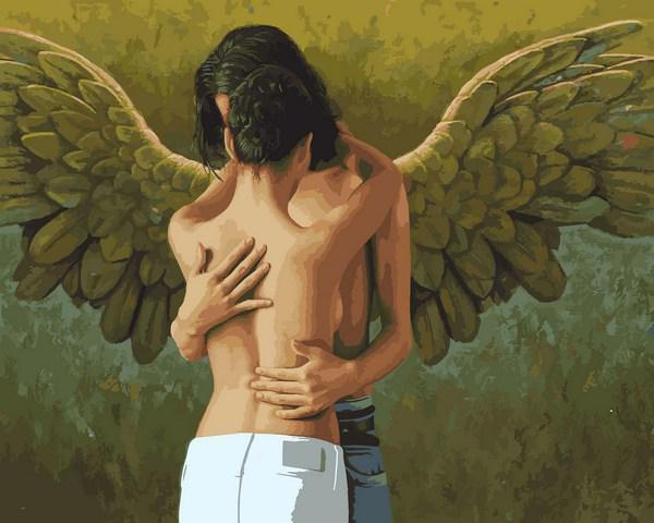 Картина за номерами малювання Babylon VP1419 Поцілунок ангела 40х50см набір для розпису по цифрам у коробці