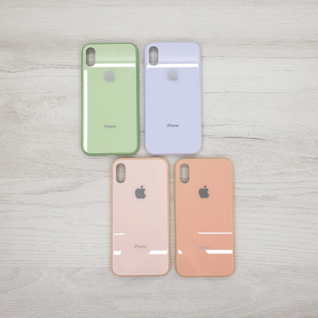 Чехол  стекло для Apple iPhone X / XS