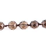 Раухтопаз шоколадний гранований, намисто, 196БСР, фото 3