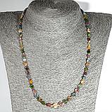 Турмалин разноцветный, бусы шнурок, 584БСТ, фото 2