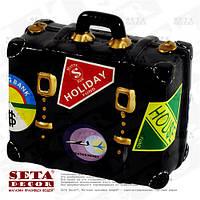 Копилка Чёрный чемодан керамическая