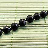 Агат черный, граненый Ø8, бусы 1,5 м., 285БСА, фото 3