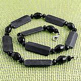 Бяньши чорний нефрит, намисто, 326БСБ, фото 2