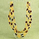 Бурштин самородки поліровані, намисто 1,47 м., 384БСЯ, фото 2