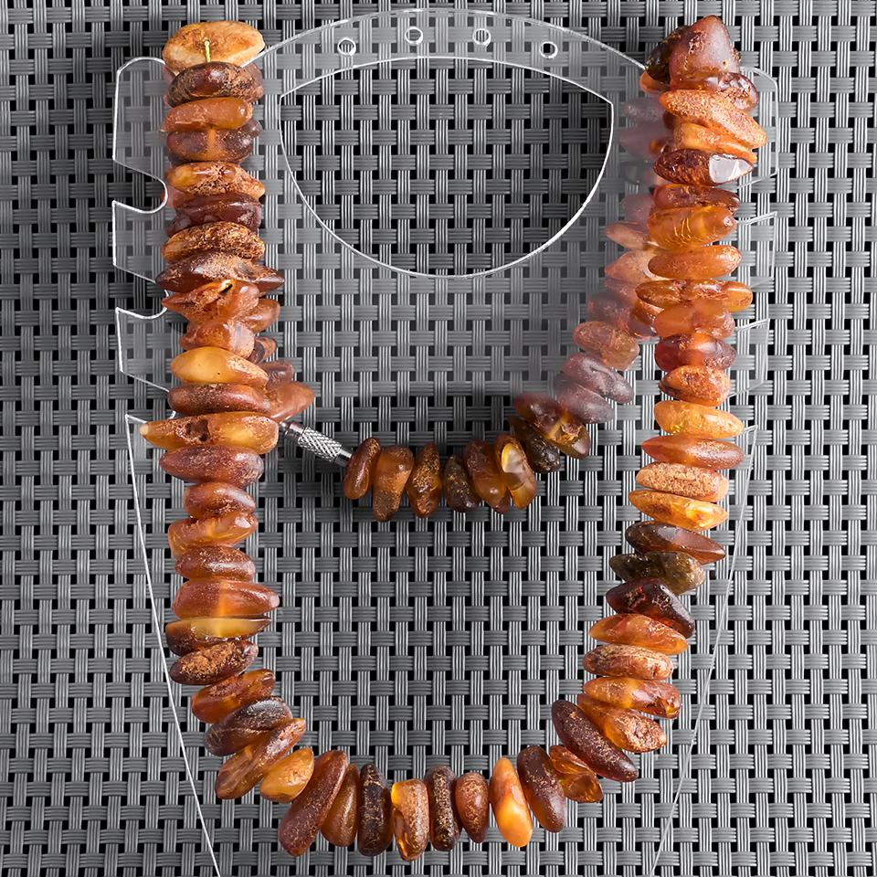 Янтарь самородки шлифованные, 18*10 мм., бусы, 405БСЯ