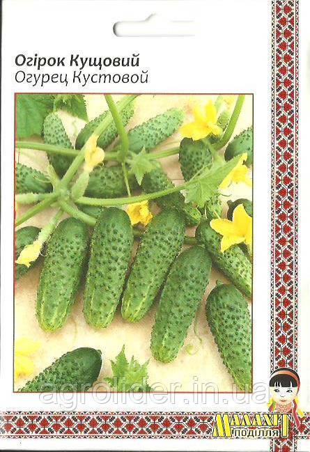 Семена огурец Кустовой 5г Зеленый (Малахiт Подiлля)
