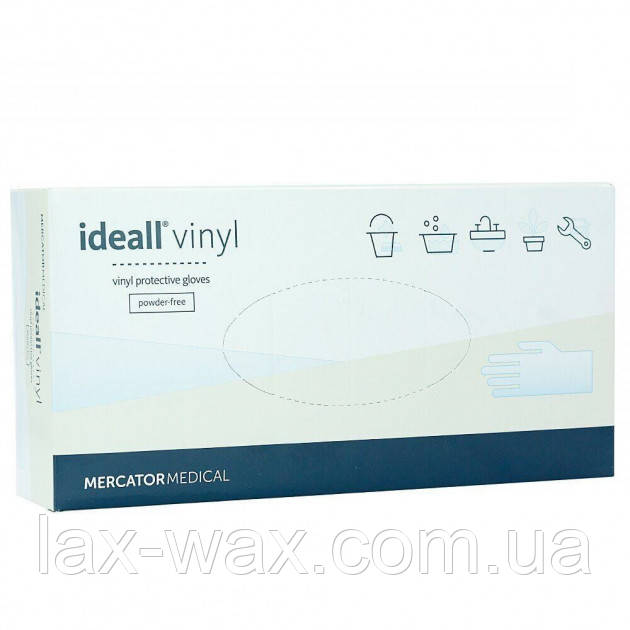 Рукавички вінілові Mercator Medical Ideall Vinyl (М)