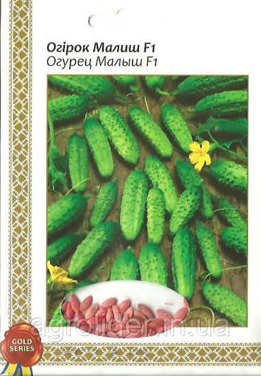Семена огурец Малыш F1 Gold 5г Зеленый (Малахiт Подiлля)