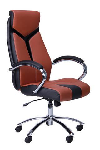 Кресло для руководителя Прайм коричневое