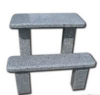 Столы лавки из натурального камня на кладбище № 468
