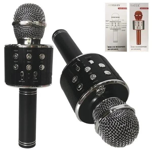 Караоке микрофон черный