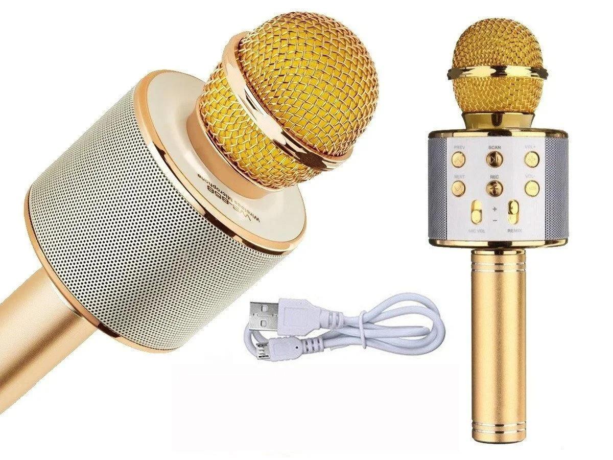 Караоке микрофон беспроводной стильный