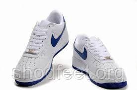 Мужские кроссовки Nike Air Force 1 Low White/Royal Blue