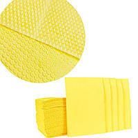 Серветки стоматологічні (нагрудники), 25шт./пач., жовті, фото 1