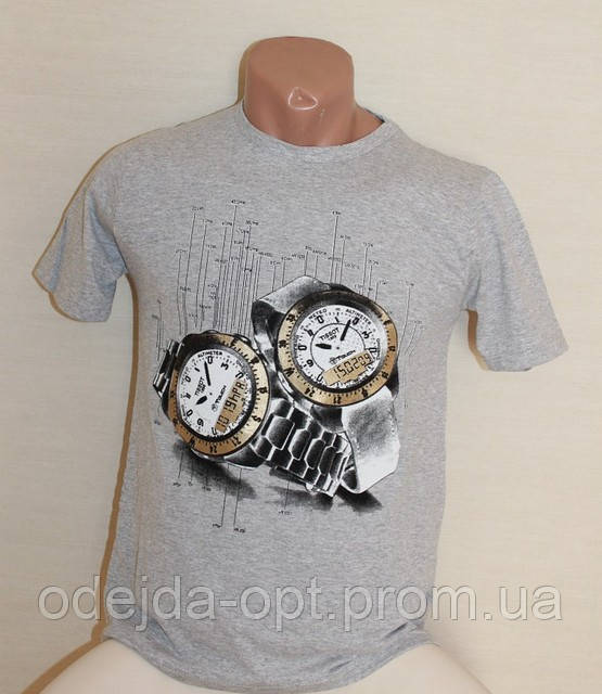 Мужская футболка часы