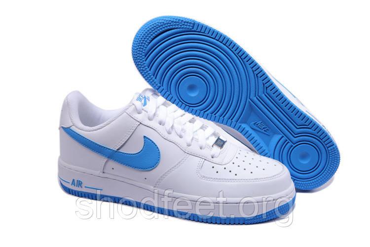 Мужские кроссовки Nike Air Force 1 White/Blue