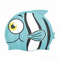 Дитяча шапочка для плавання 26025 у формі рибки (Блакитний)