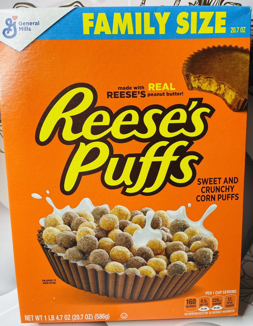 Сухой завтрак с арахисовой пастой Reese's Puffs