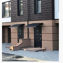 Козырек над входной дверью 1,5м * 1м монолитный поликарбонат 3мм