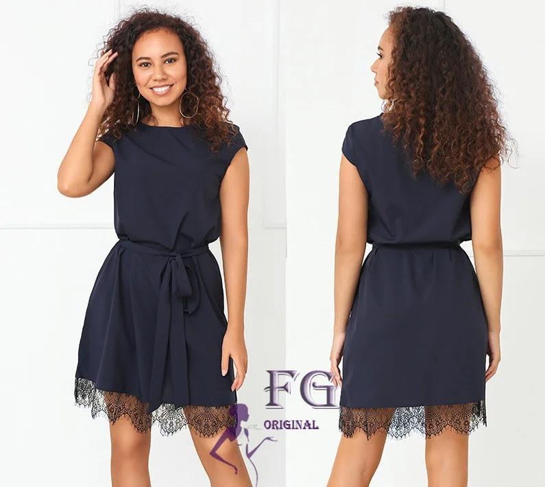 / Розмір 40-42, 42-44, 46-48 / Жіноче літнє елегантне плаття Шеррі / колір синій