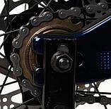 Двоколісний велосипед для дітей з додатковими колесами, ручним гальмом CORSO «Speedline» MG-14977, сірий, фото 4