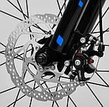 Двоколісний велосипед для дітей з додатковими колесами, ручним гальмом CORSO «Speedline» MG-14977, сірий, фото 5