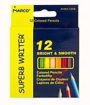 Олівці кольорові Marco Superb writer,12 кольорів укорочені 4100H-12