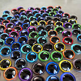 Стеклянные глаза кабашоны для игрушек 10 мм (пара) с бликами, фото 2
