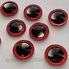 Стеклянные глаза кабашоны для игрушек 10 мм (пара) с бликами
