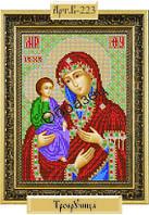 Схема для вышивки бисером «Божия Матерь Троеручица»